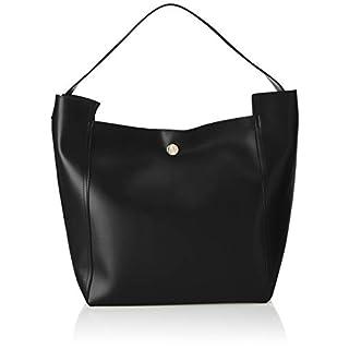 Armani Exchange Shopping Bag With Colour Logo Women's Shoulder Bag, Black, 43x19x32 centimeters (B x H x T)