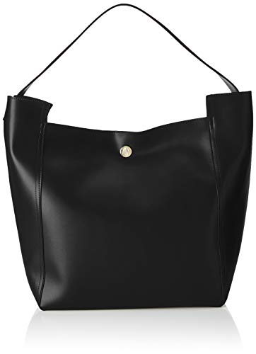 ARMANI EXCHANGE Shopping Bag With Colour Logo - Borse a spalla Donna, Nero (Black), 43x19x32 cm (B x H T)