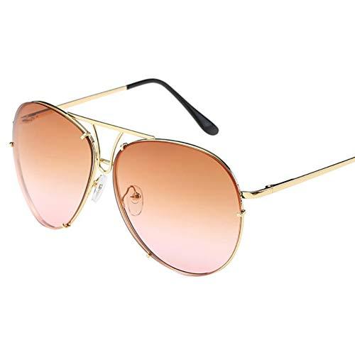 LETAM Sonnenbrille Frauen Mann Sonnenbrille Übergroße Aviator Sonnenbrille Flache Oberseite Große Große Verspiegelten Rahmen oculos
