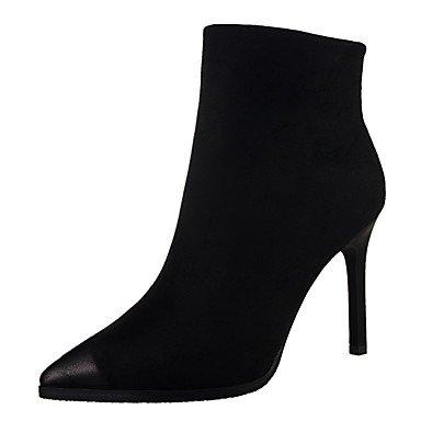 Moda Donna Sandali Sexy donna tacchi Comfort inverno abito scamosciato Stiletto Heel altri nero / grigio / arancio / Burgundy / Kaki passeggiate Burgundy