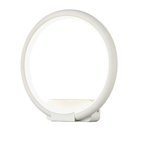 Applique Murale, LED Style Moderne, design ultramoderne, Armature en forme de cercle en Métal couleur blanc, pour le Salon, le Bureau, couloir, cuisine, sejour, 800 lumen, 12W 220V