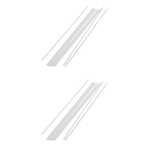 Fenteer 20 Stück Kunstoff Rund Stange Stab Diy Architekturmodell Baustoffe