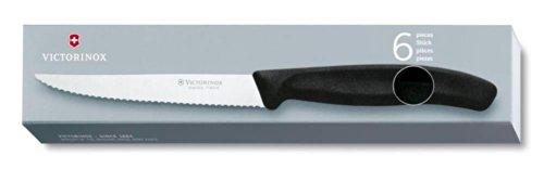 Victorinox 6.7233 Steakmesser SwissClassic, spitz, schwarz