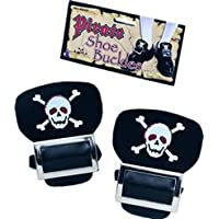 Pirate Shoe Buckles with Skull Buckles