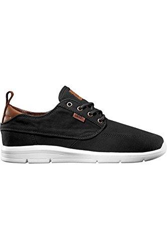 Vans brigata lite plus - scarpe da ginnastica basse unisex – adulto, nero (t&l/black/white), 45 eu