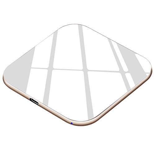 Te-Rich Cargador inalámbrico 15W Máximo Cargador Qi 10W para Samsung Galaxy S10/S10+/S10e/S9 Plus/S9/S8/Note 8,7.5W para iPhone X/XS/XS MAX/XR/8 Plus/8,5W para AirPods … … (Blanco)