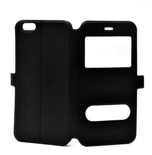Fonokase Case for Apple iPhone 6 Plus & 6S Plus Flip Type Caller ID View Black