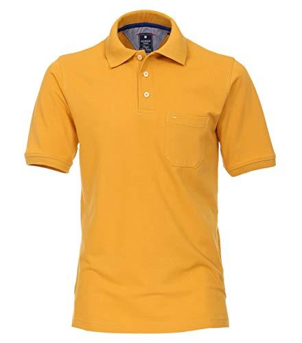 Redmond Herren Piquee Polo-Shirt unifarben Brusttasche 100% Baumwolle -