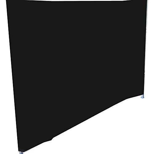 Cablematic Komplette Seitenklapp Leinwand Zelt 450cm schwarz