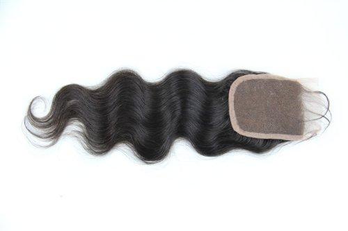 30,5 cm cheveux vierges brésiliens Ondulés dentelle fermeture/fermeture supérieure (10,2 x 10,2 cm) couleur naturelle 120% Densité