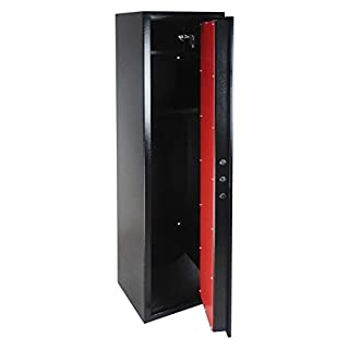 Dirty Pro Tools 6 GUN CABINET DELUX MODEL 1500mm High WITH VAULT LOCKING DOOR AND BUILT IN AMMO SAFE BOX