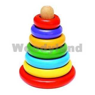Woodyland 13 x 17 cm Juguetes Didácticos magnética Stacking Pyramide (13 Piezas)
