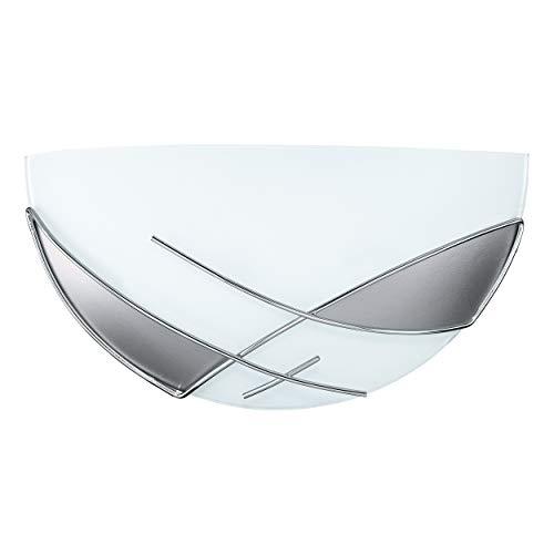 EGLO RAYA Wandleuchte, Stahl, E27, 60 W, weiss, chrom -