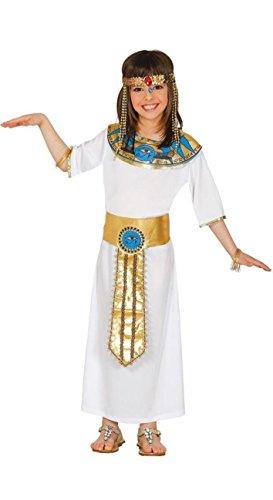 Costume nefertiti egiziana cleopatra carnevale bambina taglia 7-9 anni