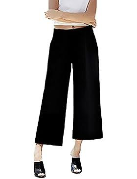Pantalones Mujer De Vestir Verano Elegantes Gasa Pantalon Ancho Moda Casual Cintura Alta Pantalones Talla Grande...