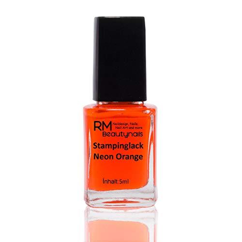 Stampinglack neon orange 4ml smalto smalto per unghie nail polish rm beauty nails