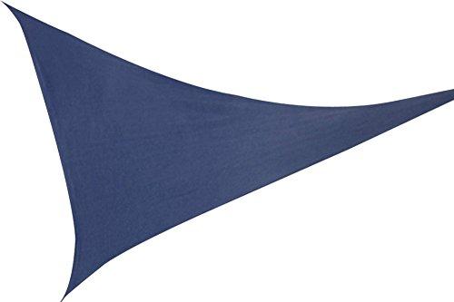 Windhager Sonnensegel blau Dreieck 3,6 x 3,6 m Sonnendach Markise Sonn