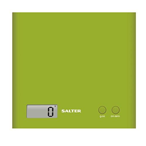prezzo Salter 1066 GNDR Bilancia da Cucina, Salvaspazio Facile da Riporre, Ampio Display, Capacità 3KG, Verde