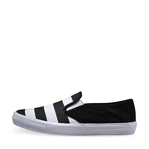 ZXD  Slipon Vii, Chaussures mixte adulte noir/blanc