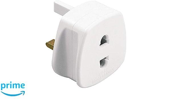 3 X Rasoir Plug adaptateur 2 broches à 3 broches salle de bains électrique Rasage Brosse à dents 1 A