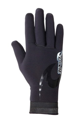 Rip Curl Herren e-bomb 2mm 5Finger Handschuh, Herren, schwarz (Neoprenanzug Finger Handschuhe)
