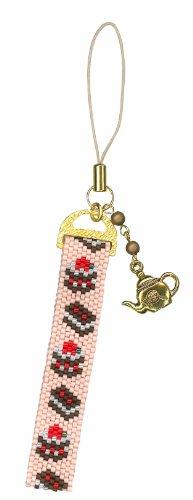 Make-with-MIYUKI-Delica-beads-beads-stitch-strap-kit-BFK-272-chocolate-cake-strap-japan-import