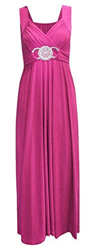 Nouveau avec boucle à la taille robe de soirée longue Desire Clothing Cerise