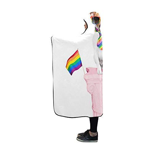 Menschliche Größe Hund Kostüm - JOCHUAN Hooded Blanket Crazy Funny Homosexuell