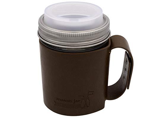 Mason Jar Lifestyle Reisebecher-Set aus Kunstleder Pint 16oz Frost Pint Mason Jar