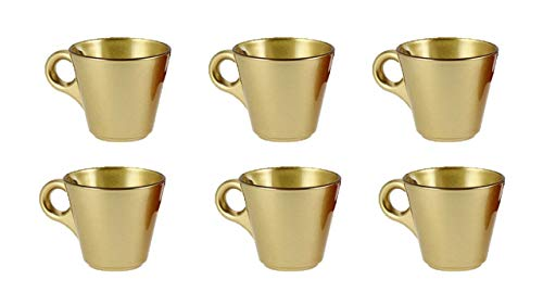 James Premium Set mit 6 Espresso-Tassen, 80 ml Gold - Gold 6 Tasse