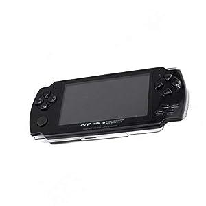 GAME Maple Mode Handheld-Spielkonsole, PSP Handheld-Spielkonsole Mode 4,3-Zoll-MP50 Kinder Spiel Lernmaschine, Unterstützung GBA  MD  NES-Format Spiel Download,Black