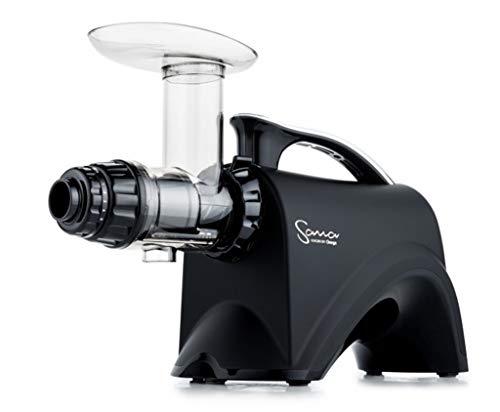 Sana Juicer by Omega EUJ-606 in Matt-Schwarz - Horizontaler Slow Juicer