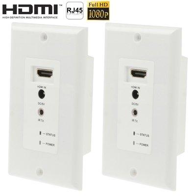 Alimentatori Notebook, Pieno Piastra HD 1080P HDMI Extender parete corso CAT5e / 6e, Distanza di trasmissione: 30m (Usando doppio UTP cavo di rete di trasmissione del segnale HDMI)