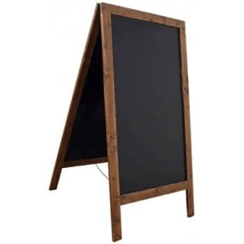 kundenstopper holz gehwegaufsteller kreidetafel fichte wetterfest f r au en 125x69cm. Black Bedroom Furniture Sets. Home Design Ideas