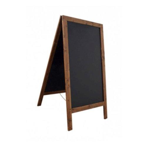 Kundenstopper Holz Gehwegaufsteller Kreidetafel Fichte wetterfest für Außen 125x69cm