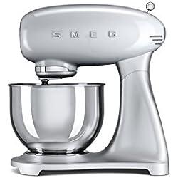 Smeg SMF01SVEU Stand mixer 800W Silver mixer - mixers (Stand mixer, 1 m, 4.8 L, Silver, Stainless steel, Aluminium, Stainless steel, Zinc steel)