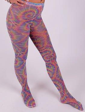 Pantyhose Neon Psychedelic Accessory for Lingerie Fancy Dress (70er Fancy Dress Costumes Ideen)