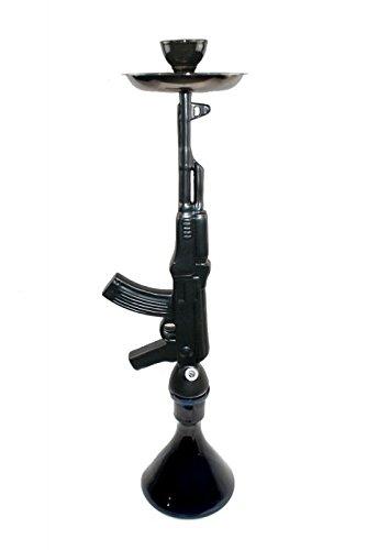 AK-47 Hookah Gewehr Shisha - Schwarz Matt