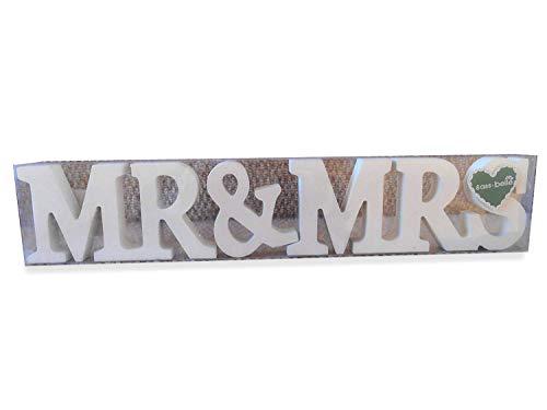 Sass & Belle Mr & Mrs Holz Buchstaben cremefarben