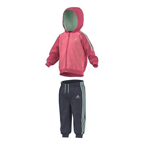 adidas Mädchen Trainingsanzug mit Kapuze, Kinder Größen:86