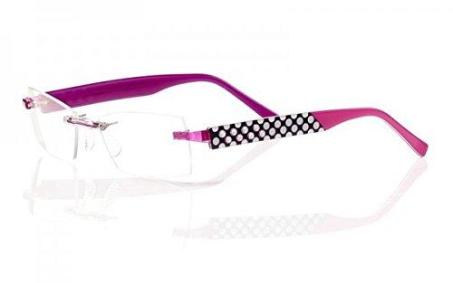 Switch it! Exclusive Edition 9032 Brille Montur Wechselbrille Garnitur - pink-schwarz-weiß mit Steinchen