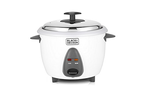 Black + Decker BXRC0101IN 1-Litre Rice Cooker (White)