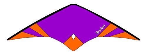Wolkenstürmer Skydart Lenkdrachen mit Glasfaser-Gestänge, lila - Kite für Einsteiger und Fortgeschrittene