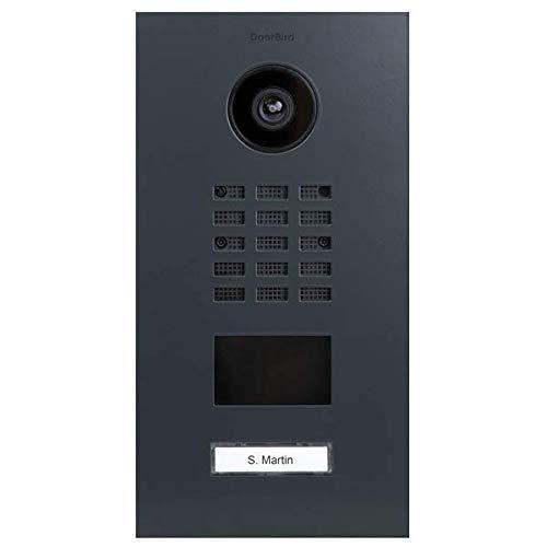 Doorbird D2101V Video-Türsprechanlage, IP mit RFID, Schwarz