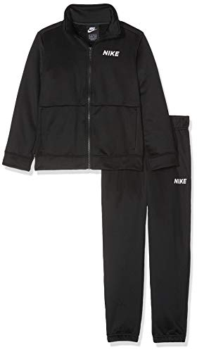 Nike B NSW TRK Suit Poly Bambino, Black/White, S
