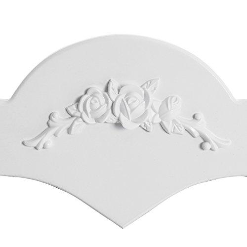 Songmics herzförmigen Spiegel Schminktisch mit Hocker und 4 Schubladen, inkl. 2 Stück Unterteiler, Kippsicherung, weiß 75 x 138 x 40 cm (B x H x T) RDT14W - 6