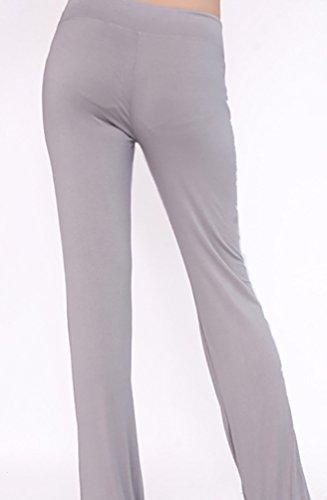 Baymate Donna Moda Yoga Pantaloni Danza del Ventre Pantaloni Allenamento Plus Size Luce Grigio