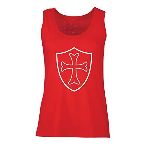 Top Die Tempelritter Schild, Rotes Kreuz, Christlicher Ritterorden (Medium Rot Mehrfarben) ()