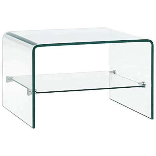 vidaXL Mesa Centro Vidrio Templado Transparente Mobiliario Hogar ...