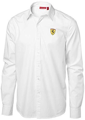 Scuderia Ferrari Herren Freizeit-Hemd, Weiß Small